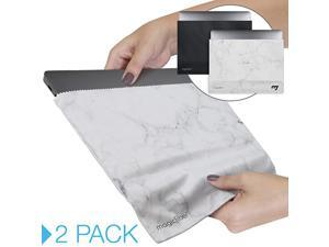 Microfiber 13133 Inch MacBook Pro Air Sleeve Case 2 Pack Light Protection and Screen Cleaning for Slim 13Inch Laptop Ultra Soft Premium Microfiber in Black White Marble