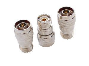 Male to UHF Female Pack 3pcs RF Antenna Coaxial Coax Adapter SO239 Jack Coax Adapter SO239 Connector