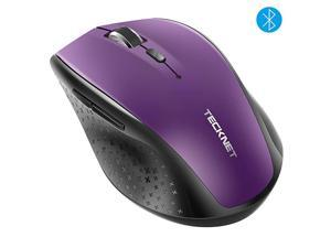 Bluetooth Wireless Mouse5 Adjustable DPI Levels24Month Battery Life6 Buttons Compatible for ipadLaptopSurface ProMacBook pro ChromebookPurple