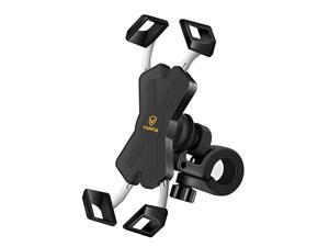 New Bike Phone Mount with Stainless Steel Clamp Arms Anti Shake and Stable 360 Rotation Bike AccessoriesBike Phone Holder for Any Smartphones GPS Other Devices Between 4 and 7 inches