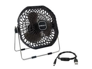 USB Fan 7Inch Frame Mini USB Table Desk Personal Fan Quiet Rotatable Black H1055