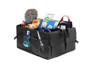 Car Trunk Organizer with Premium Insulation Cooler Bag, Heavy Duty Collapsible Trunk Storage Organizer