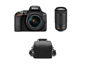 NIKON D3500 KIT AF-P 18-55mm F3.5-5.6G VR + AF-P DX 70-300MM F4.5-6.3G ED VR DX + Camera Bag