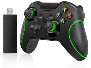 Xbox Wireless Controller PC Game Controller 2.4GHZ Wireless Game Controller Compatible with PS3/ Xbox One/One S/One X and PC with Built-in Dual Vibration