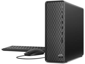 2021 Newest HP Slim Desktop Tower PC, AMD Athlon Silver 3050U, 8GB DDR4 RAM, 128GB PCIe SSD + 1TB HDD, HDMI, USB, WiFi, Bluetooth, Wired Keyboard & Mouse, Windows 10 Home