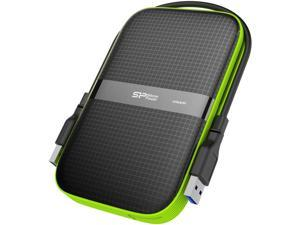 SP Silicon Power 2TB Rugged Portable External Hard Drive Armor A60 Shockproof USB 3.1 Gen1 for PC Mac Xbox and PS4 Black