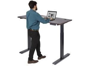 OSINA Electric Standing Desk Frame-Electric Workstation Two-Leg Standing Desk, Two Motors, with Memory Settings and Retractable Sitting Stand Height Adjustment (48X24 in Table Board)