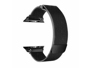 For Apple Watch band 6 5 4 3 2 1 SE Replacement Stainless Steel 42mm 44mm MESH Milanese loop Style Black Color for apple watch
