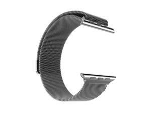 For Apple Watch band  6 5 4 3 2 1 SE Replacement Stainless Steel 42mm 44mm MESH Milanese loop Style Graphite Color For Apple Watch