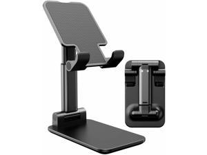 Tablet Stand Foldable & Adjustable, [2021 Updated] Compact Desktop iPad Tablet Stands Holder Cradle Dock Fits for iPad Pro 11, 12.9, 10.2, Mini Air 2 3 4 Samsung Tab, Kindle, Monitor, Phone