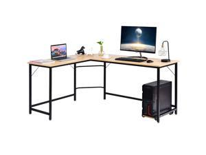 L Shaped Desk Corner Computer Desk Pc Laptop Gaming Table Workstation Black Newegg Com