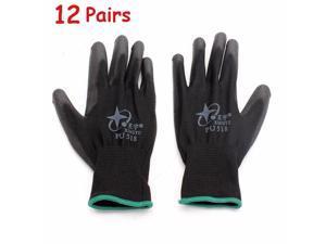 12Pairs XINGYU PU518 13Gauge Nylon Nitrile Anti-static Palm Coated Work Safety Gloves Large Size