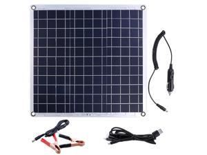 60W DC 12V 60W Solar Panel 5V Dual USB Ports Battery Charger Aluminum Plate Solar Powered Panel