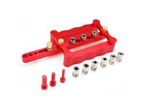 Drillpro Self Centering Dowelling Jig Metric Dowel 6/8/10mm Punch Locator Drilling Tools for Woodworking