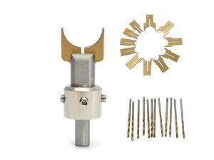Drillpro 24pcs 6-25mm Alloy Ball Cutter Woodworking Drilling Wooden Beads Drill Rotary Bead Molding Tool
