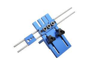 Drillpro 08450 Aluminum Alloy Dowelling Jig Set Wood Dowel Drilling Position Jig Woodworking Tool