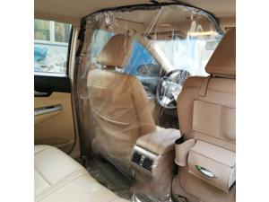2x 2.2m Car Driver Protector Transparent Isolation Curtain with Double-sided Tape