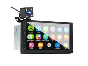 """7"""" 2 Din Car MP5 Player for Android 8.0 2.5D Screen GPS WIFI FM & Rear Camera"""
