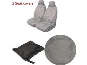 Universal Car Van Waterproof Nylon Heavy Duty Front Seat Covers Protectors