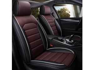 1 Pcs Universal PU Leather Car Seat Covers Cushions Front Stitching Seat Protector
