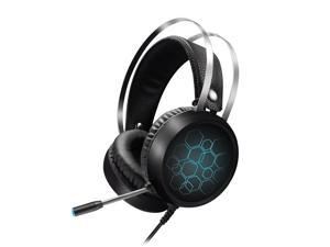 X1 Professional Virtual 7.1 Gaming Headset RGB Light Headphone USB Wired with Mic for PC Computer Xbox One PS4