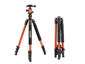 Zomei Q555 Professional Tripod Aluminum Flexible Portable Camera Tripod Stand Tripe with Ball Head
