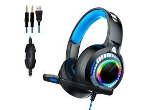Gaming Headphone LED Light 7.1 USB Headset With Noise Isolation Mic for PS4 XBOX Laptop