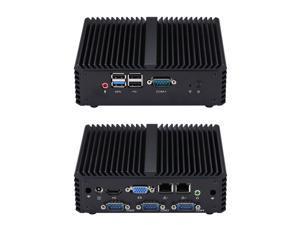 Mini Desktop PC Intel Celeron J1900 4GB RAM 64GB/128GB SSD with 4COM Quad Core 2GHz to 2.41GHz Intel HD Graphics HDMI VGA  Win7/8/10/Linux