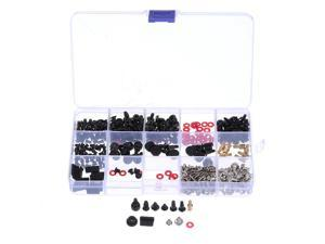 Suleve 350Pcs/set M2/M3/M3.5 DIY Desktop Computer Repair Screw Assortment Mainboard Fan Cross Screws Hex Standoffs Spacers Kits w/ Storage Box Screwdriver
