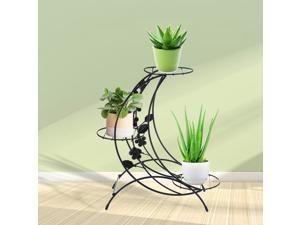 Antique Outdoor Indoor 3 Pot Plant Stand Shelf Home&Garden Flower Rack 37cm High White