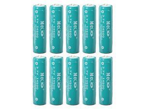 10pcs 3.7V 1200mAh Rechargeable 14500 Li-ion Battery