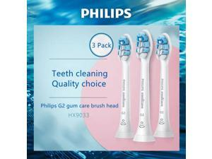Philips Sonicare HX9033/65 G2 Set of 3 Brush Heads Sensitive Gums Best Gum Care G2 With BrushSync technology , White