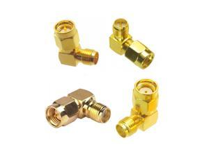 4 PCS Whole Set Right Angle SMA RP-SMA Antenna Connector Male Female Adapter ALL in One Combo Whole Set DIY Accessories For RC Model Racing Drone FPV System