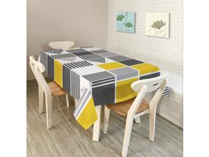 Modern Simple Rectangle Polyester Tablecloth Colorful Triangle Geometry-2/S