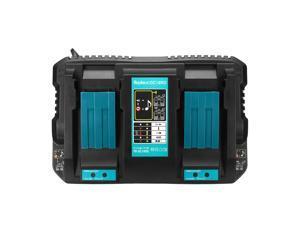 Dual Twin Port Battery Charger For Makita DC18RD Li-ion LXT 7.2V-18V Fast Rapid EU Plug