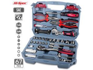 67pcs Hand Tool Set Metric Car Auto Repair Automotive Mechanics Tool Kit Home Garage Socket Wrench Tools with Tool Case -