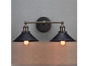 Massa Antique Bronze Wall Sconce 2-Light Edison Simplicity Wall Mount Light Sconces