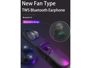 TWS earphone wireless bluetooth V5.0 DPS HD noise reduction call large capacity charging cabin IPX 7 waterproof bluetooth earbuds with mini handy fan multiple colors