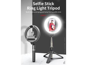 SIROKA-5 Inch stretchable tripod fold photo make up desktop flash fill led lamp bluetooth selfie ring live light with tripods for phone
