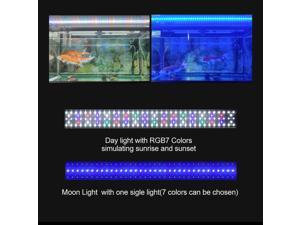 35.4inch Fish Tank Waterproof 48W RGB Multiple Colors Saltwater Aquarium Accessories Aquarium Grow Lights for Plants