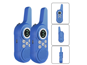 SRK-T7 Walkie Talkie for Kids 2 Pack, 3 Channels Digital with Led Display Walkie Talkie Long Range Handheld Wireless Transceiver Machine Kids Children's Gift