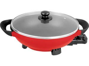 5 Quart Electric Wok with Auto Thermostat Control This smooth metal work in this 5 QUART ELECTRIC WOK is intended to warm up rapidly and hold its outrageous warmth as you cook.