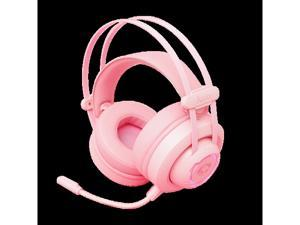 AD701 CherryBlossom Pink USB7.1 Deep Bass Gaming Headset Built-in MIC  Support PC and Laptop, Comfortable Wearing Feeling