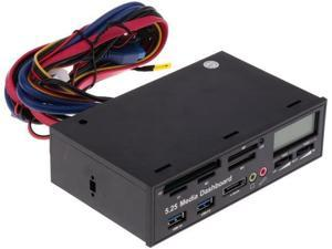 USB 3.0 All in One 5.25 inch Internal Front Panel Card Reader for PC Desktop