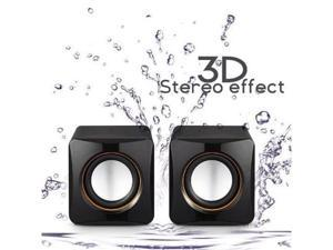 BFY Electronics 101C High-fidelity USB Acoustics System Cube Speakers Powered by USB for Laptops and Desktops