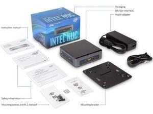 Intel NUC NUC8i5BEK Mini PC/HTPC, Intel Quad-Core i5-8259U Upto 3.8GHz, 8GB DDR4, 128GB m.2 SSD, WiFi, Bluetooth, Thunderbolt 3, 4k Support, Dual Monitor Capable, Windows 10 Pro (8GB Ram + 128GB SSD)