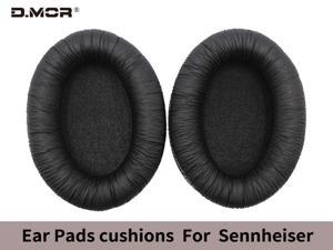 Replacement protein leather ear cushions for Sennheiser HD201 HD180 201S Gaming Headphones and similar large headphones (1 pair)