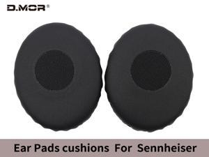 Replacement protein leather ear pads for Sennheiser HD228 HD218 HD238 HD219 HD229 HD239 HD220 gaming headsets and similar large headsets (1 pair)