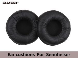 Replacement protein leather ear pads for Sennheiser PX100 gaming headsets and similar large headphones black (1 pair)