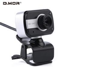 Full HD streaming camera for video calling and recording, built-in microphone, desktop camera, laptop, USB webcam, plug and play, low light correction and fixed focus H